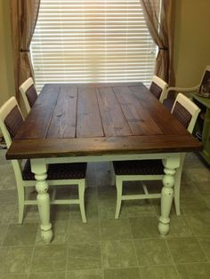 The Weldon's Blog: Farm House Table