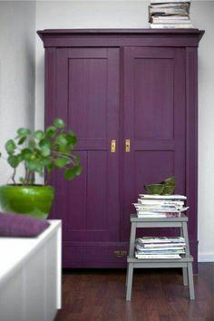 Purple wardrobe