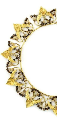 "cair–paravel:  ""Necklace, Lucien Gaillard, c. 1900.  """