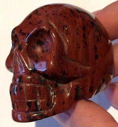 77g MAHOGANY OBSIDIAN CARVED / POLISHED CRYSTAL GEMSTONE SKULL (3.9cm)  | eBay