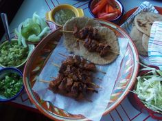Grilled Adobo Pork with Navajo Bread Tacos - Marinade pork a day in advance.