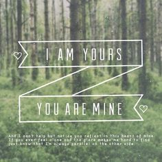i am yours and you are mine ❤ッ