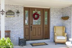 New ProVia front door with decorative sidelites Front Entry, Entry Doors, Fiber Cement Siding, Home Renovation, Curb Appeal, Exterior, Outdoor Decor, Modern, Home Decor