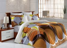 Pościel satynowa Valentini Bianco Limited Edition DEKOR KAWA, 160x200 + 2x 70x80 cm oraz 220x200 + 2x70x80 cm, 100% bawełna.