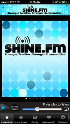 Take us with you on the Shine.FM App!