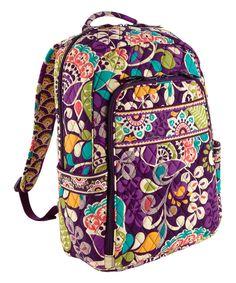 Look at this #zulilyfind! Plum Crazy Laptop Backpack by Vera Bradley #zulilyfinds