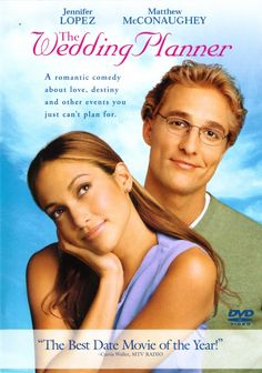 The Wedding Planner is a sweet romantic comedy about a groom (Matthew McConaughey) who discovers he is more interested in his highly organized, but quirky wedding planner (Jennifer Lopez) than his long-time fiancee. Matthew Mcconaughey, See Movie, Movie List, Movie Tv, Old Movies, Great Movies, Girly Movies, Best Love Story Movies, Romantic Comedy Movies
