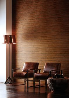 The 'Reed' wallpaper from Anthology's '02' collection is a textural vinyl which has been inspired by the natural texture of bamboo reeds. This trend-led rust colour is one of our favourites and when combined with statement pieces of copper furniture, it gives a smart hotel lobby look!