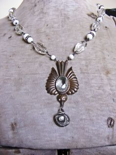 Bird With Her Nest Assemblage Necklace. $50.00, via Etsy.