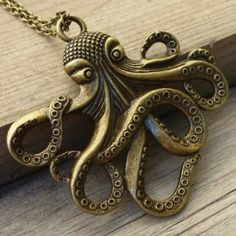 Steampunk Octopus Nautical Pirate Necklace Pendant Charm: Everything Else
