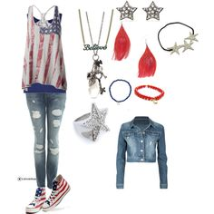 4th Of July All The Way!, created by calledbylove on Polyvore