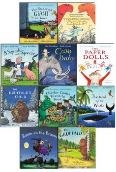 Picture Book Collection 10 Books Set by Julia Donaldson #PictureBook #ChildrensBook #TheGruffalo #Book   http://www.snazal.com/julia-donaldson-picture-book-collection-10-books-set--DEALMAN-U5-JD-10bks.html