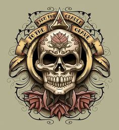 From The Cradle To The Grave skull art
