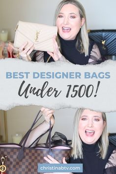 The best designer bags under $1500!! #designerbags Love Her Style, Mom Style, Best Designer Bags, Style Challenge, Blogger Style, Simple Outfits, Luxury Handbags, Fashion Advice, Blogging