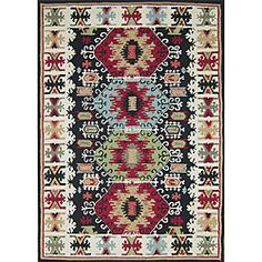 @Overstock - Eye-catching designs are portrayed vividly on this black southwestern area rug. With a palette of colors so vibrant, this handmade, indoor rug will be sure to blend well among other southwestern inspired decor. This rug has a low pile height.http://www.overstock.com/Home-Garden/Hand-hooked-Rancho-Black-Rug-5-x-76/6479601/product.html?CID=214117 $152.99
