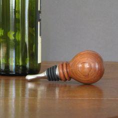 Items similar to Wine bottle stopper made from bubinga wood, wood turning on Etsy Wood Turning Lathe, Wood Turning Projects, Lathe Projects, Craft Projects, Tapas, Cast Iron Beds, Wine Bottle Stoppers, Bottle Opener, Small Pen