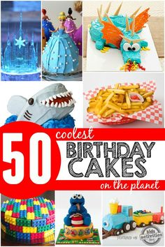 50 Coolest Birthday Cakes on The Planet Every birthday we want to outdo the last by creating the coolest birthday cake ever! If you are planning a birthday party, you might want to check out Cool Birthday Cakes, Birthday Fun, Birthday Ideas, Fancy Cakes, Cute Cakes, Yummy Cakes, Planet For Kids, 50th Cake, Gateaux Cake