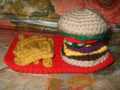 D Crafter's Corner: Crochet Hamburger and Fries