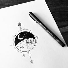 Commission for Jane, to remember her holidays. Love this one. Want a custom design as well? Send me an email to evablackart@gmail.com for details and prices ✨#illustrator #illustration #design #sketch #drawing #draw #ink #pen #tattoo #tattoodesign #linework #dotwork #blackwork #blackworkers #art #artwork #artist #instaart #instaartist #bw #thedesigntip #compass #landscape #holiday #wanderlust #beach #explore #moon #minimal #evasvartur