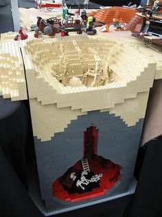 "I love the skeletons at the bottom of the pit. Lego ""The Great Pit of Carkoon"" home of the Sarlacc."