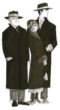 Reiner, Annie, and Bertholdt, 1920s by johannathemad