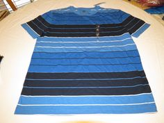 Men's Tommy Hilfiger T shirt NWT chest logo XL 7880598 Bright Blue 428 stripes #TommyHilfiger #BasicTee