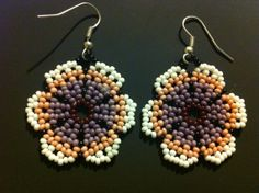 Huichol Peyote Beaded Earrings by HuicholArte on Etsy, $7.75