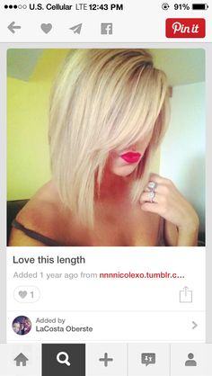 Hairspiration.... Long bob yay or nay? Only thing that puts me off is not being able to get it up for the gym!