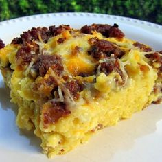 Maple Sausage Waffle Breakfast Casserole - Great for when guests are in town