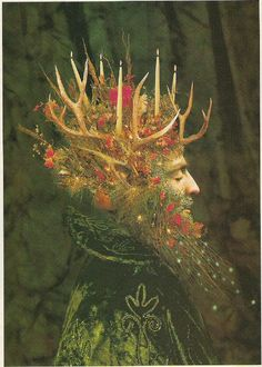 The Yule or Holly King, by Michael Kerbow. The Yule . - The Yule or Holly King, by Michael Kerbow. The Yule or Holly King is an - Samhain, Pagan Yule, Pagan Art, Pagan Gods, Norse Pagan, Wiccan Witch, Happy Solstice, Winter Solstice, Holly King