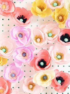 Oh So Beautiful Paper: Fresh Cut Paper Flowers: Anemone