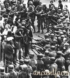 National Guardsmen surround Vietnam protesters at People's Park in Berkeley California, 15 May 1969 Berkeley California, Vietnam Protests, Vietnam War, Woodstock, Prairie Fire, Protest Art, We Are The World, National Guard, Funny Animals