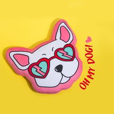 Nuevo almohadón 🐶. Para llevarlo donde quieras #TheTripIsAboutToStart #TMNewYork I Cant Help It, Purple, Pink, Love Her, Disney Characters, Fictional Characters, Stationery, Cool, Artist