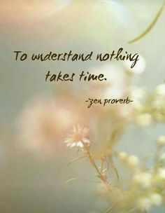 "terracemuse: "" To understand nothing takes time. (Zen proverb) image from etheral photography hunter "" Zen Quotes, Spiritual Quotes, Wisdom Quotes, Positive Quotes, Motivational Quotes, Life Quotes, Inspirational Quotes, Zen Sayings, Lao Tzu Quotes"