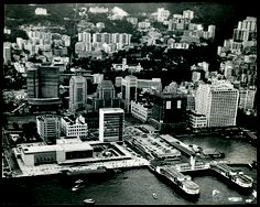 An overview of Central district in 1963. The Mandarin used to have prime harbour-front views.