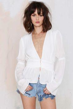 Stone Cold Fox Patrick Silk Top - Shirts + Blouses