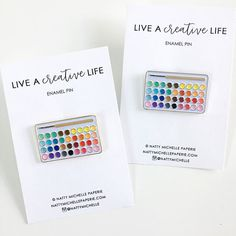 Hey, I found this really awesome Etsy listing at https://www.etsy.com/listing/506623717/live-a-creative-life-palette-enamel-pin