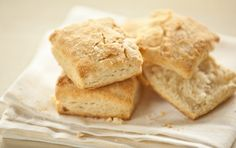 Coconut Oil Biscuits. You won't taste the coconut flavor but the biscuits will melt in your mouth thanks to their tender texture.