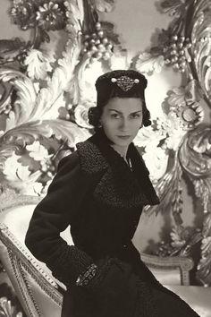 """""""I don't do fashion, I AM fashion"""". Gabrielle """"Coco"""" Chanel, 1937"""