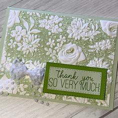 Stamped Sophisticates: Stampin' Up! Country Florals Embossing Folder
