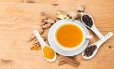 Scleroderma, Ginger and Turmeric Tea Easy Vegetarian Lunch, Healthy Dinner Recipes, Healthy Tips, Healthy Eating, Tea Mix Recipe, Anti Inflammatory Herbs, Turmeric Juice, Sour Cream And Onion, Chocolate Chip Oatmeal