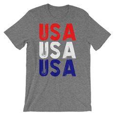 USA Shirt Red White Blue Shirt usa T-Shirt usa Olympics Patriotic Shirts Team usa America Shirt Patriotic TShirt usa Tee Fourth of by 25VintagePlace