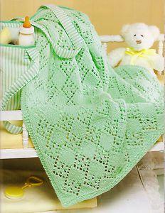 Free Knitting Pattern - So Soft Diamond Panel Baby Blanket