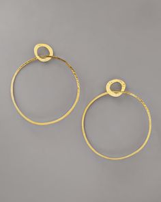 Flip uoside down?Open Circle Earrings by Herve Van Der Straeten at Neiman Marcus.