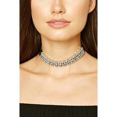 Forever 21 Faux Gem Diamond Choker ($11) ❤ liked on Polyvore featuring jewelry, necklaces, fake diamond necklace, fake diamond jewelry, gem jewelry, diamond choker and choker necklace