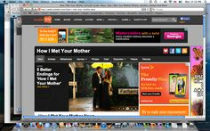 "http://www.buddytv.com, ""How I Met Your Mother"" this allows viewer to connected on a deep level with the show How I Met Your Mother by giving games, triva and quiz . For the viewer to interact with. This give the show a greater fan following and connection witch can only be acomplished by a interactive webpage."