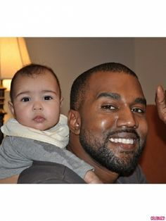 Kim and Kanye take selfies with baby North West.