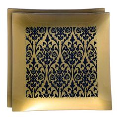 I pinned this Park Avenue Square Platter in Gold (Set of 2) from the Ring in the New Year event at Joss and Main!