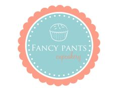 Premade Logo Design for Photographers and Small Crafty Boutiques Aqua and CoralFrame Cupcake
