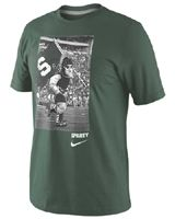 Nike Michigan State Spartans Green Sparty Photo T-Shirt